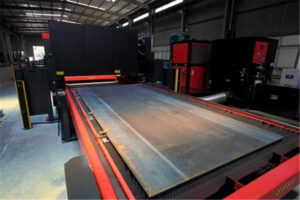 Laser cutting machine and traditional CNC equipment in sheet metal processing