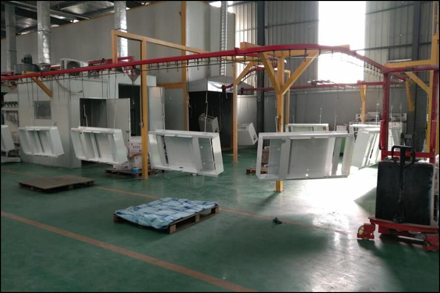 Spraying workshop assembly line2